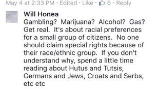 honea comment gambling marijuana