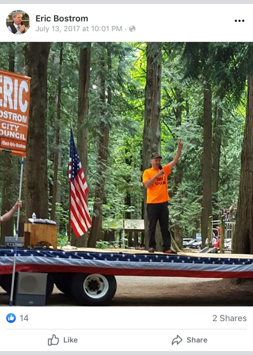 Bostrom at Whatcom GOP picnic
