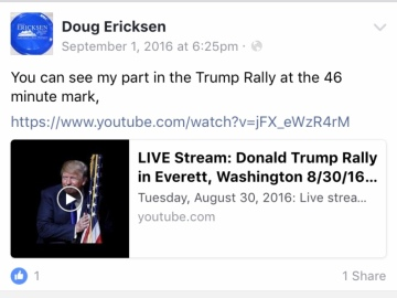Ericksen FB Trump Rally