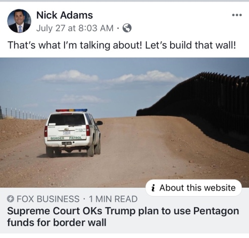 Nick Adams build that wall