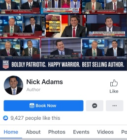 Screenshot photo of Nick Adams' Facebook page