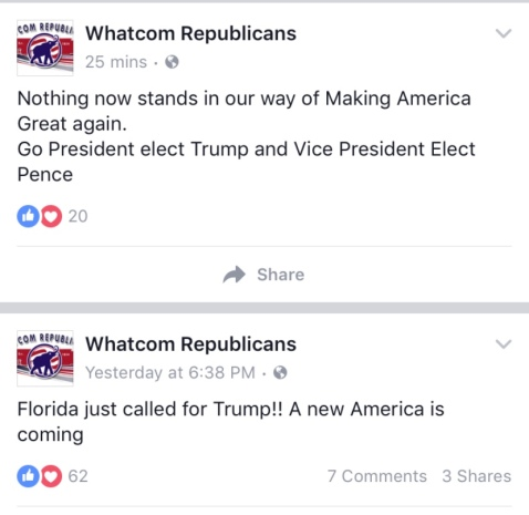Whatom GOP Trump support posts