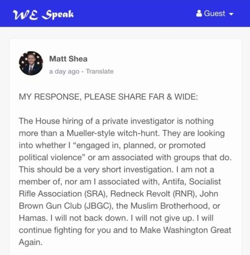 Ericksen Matt Shea We Speak