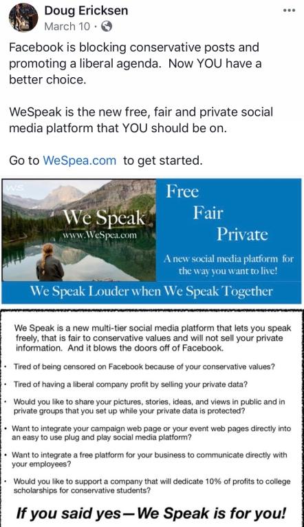 Ericksen We Speak features post