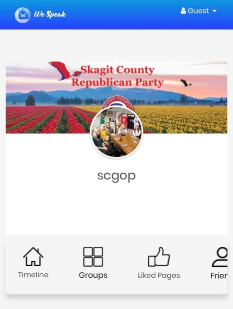 Screenshot photo of Skagit County Republicans We Speak profile page