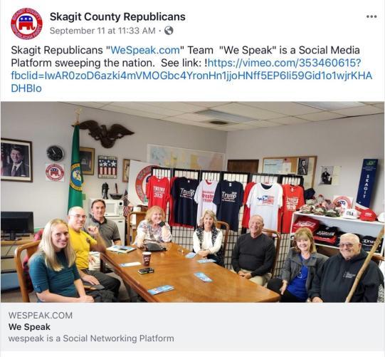 Skagit County Republicans FB We Speak Team