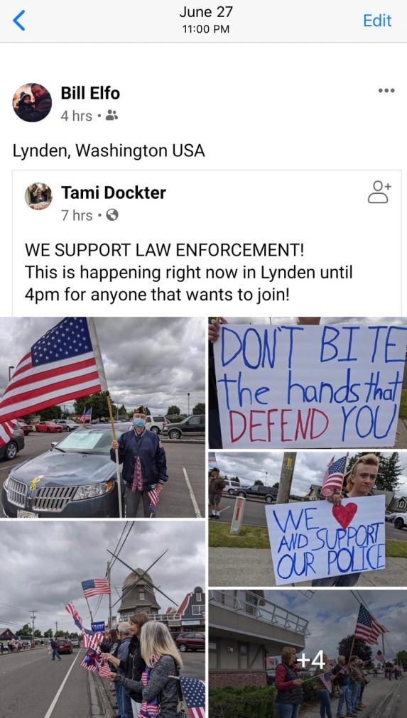 Bill Elfo Facebook share of Tami Dockter post 2020